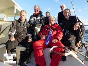 L'équipage de Lord Jim pour la croisière en Galice