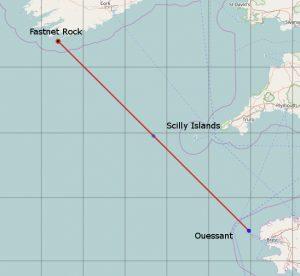La route entre Bretagne et Irlande