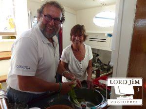 cuisiner à bord d'un voilier