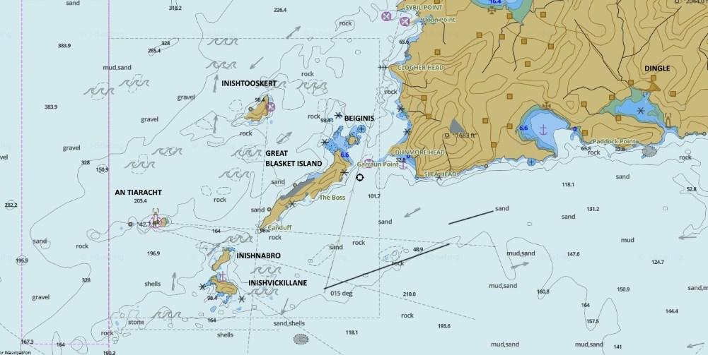 Carte de l'archipel des Blaskets