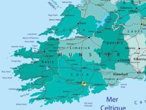 Carte de la côte SW de l'Irlande