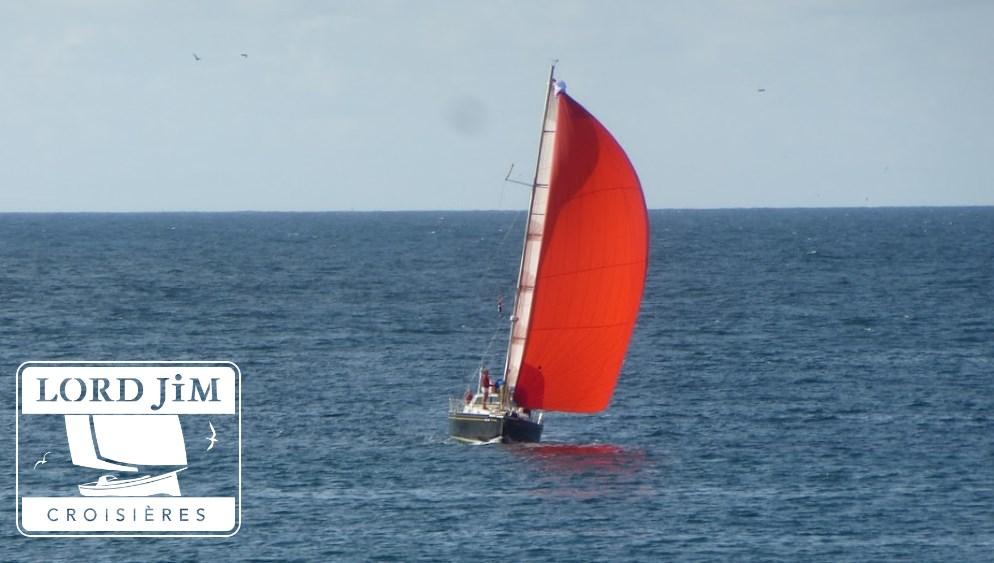 Navigation sous spi asymétrique avec chaussette