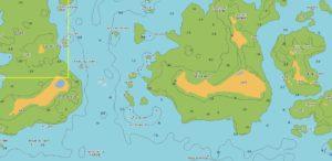 carte marine de l'ile de Quemenes2