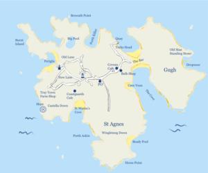 Plan de St Agnes - Scilly