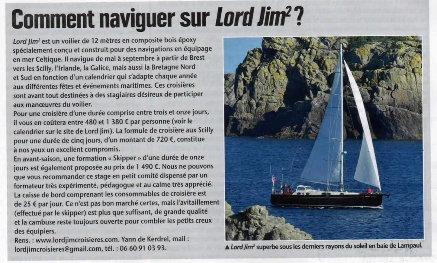 Embarquer à bord de Lord Jim