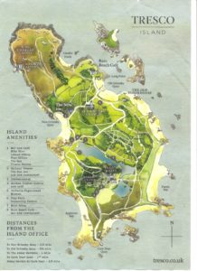 Carte de l'île de Tresco
