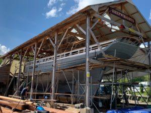 Pellew - le chantier de construction