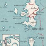 carte Bryher Scilly