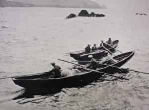 curraghs en pêche
