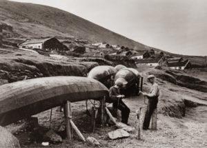 curraghs sur Great Blasket Island