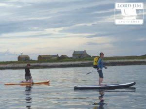 Arrivée en paddle à l'île de Quéménes