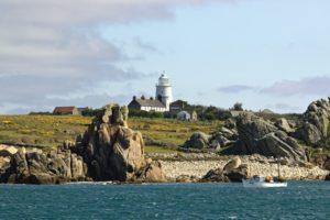 Le phare de l'ile de Saint Agnes